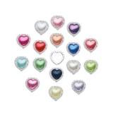 Heart Pearl Rhinestone Buttons