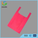 Hot Sales T Shirt Non Woven Shopping Bag With Logo And Without Sewing