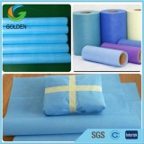 White Light Weight Smms Nonwoven Interlining Fabric By The Yard For Medical Cloth
