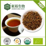 Refine Chinese black tea with osmanthus flower blooming tea