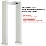18 zones update high sensitivity walk-through metal detector security gates made in china
