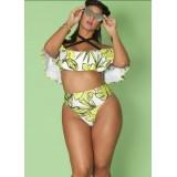 Plus Size Ruffle Bikini Top Off Shoulder