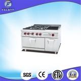 Gas Range Lava Rock Grill Oven