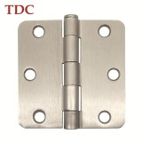 3in.×3in.×2.0mm Stain Nickel Square Hinge With 1/4 Radius Conrer