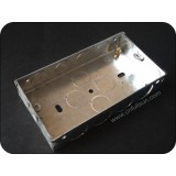 Double Gang Metal Knock Out Box
