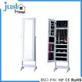 Standing mirror jewelry armoire