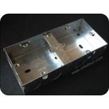 Dual Gang Metal Electrical Back Box