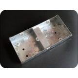 Dual Gang Metal Metal Switch Box