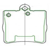 Auto Car Parts Disc Brake Pad D779 for CHRYSLER MERCEDES-BENZ