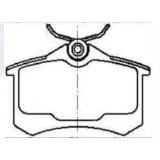 Auto Car Parts Disc Brake Pad MRD1017 for VOLKSWAGEN AUDI
