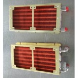 Stainless steel heat exchanger for medical laser optical cooling