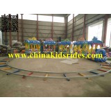 Top Fun Family Rides Amusement Attractions Ocean Train Rides Track Train for Sale