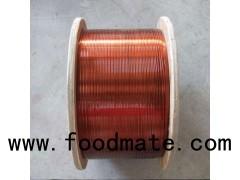 Acetal enamelled copper (aluminum) flat wire