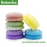 Hotsale 100% Natural Delay Aging Vegetable Fiber Skin Macarons Konjac Sponge