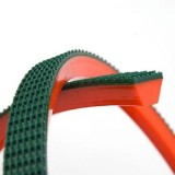 Long Life Red and Green PU Round V Belt for Glass and Food Industry