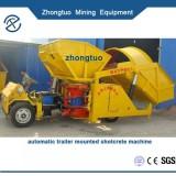 automatic trailer mounted shotcrete machine