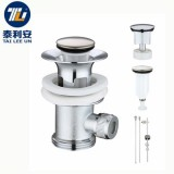 Sink bathroom brass stopper replaceable plug bath tub drainers