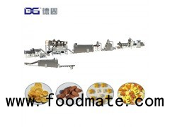 Hot sale breakfast cereal choco filled pillow snacks food making machine manufacturer