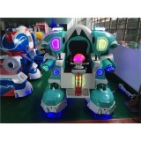 Battery Operated Kids Ride Robot In Transformer Sculpture With Fighting Mode Battle Kingkong Robot F