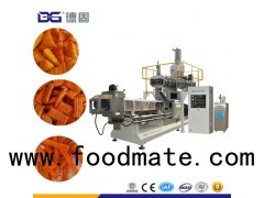 Oil curtain fried wheat flour based corn waved chips making machine
