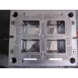 4 cavities plastic tool cabinet mould