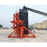 40ft Stationary Hydraulic Container Tilt Design for Loading and Unloading Corn and Rice