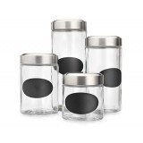 Glass Jar With Stainless Steel Screw Cap