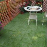 Removable Easy-installing Interlock Artificial Grass Tiles