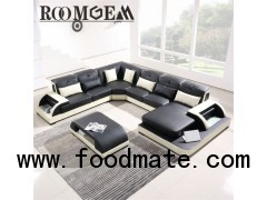 Black And White Leather Couch