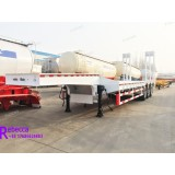 China 3 axle 60 tons lowboy semi trailers low deck trailer used to transport heavy equipement