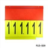 Supermarket Promotion With Side Loading And Top Loading Flip Chart Number Display Holder